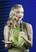 Amanda Seyfried attends the promotional event for Shiseido's Cle de Peau Beaute on June 16, 2016 in Shanghai, China.