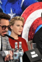 Robert Downey Jr, Scarlett Johansson and Jeremy Renner