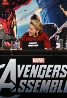 Actors Robert Downey Jr, Scarlett Johansson and Jeremy Renner