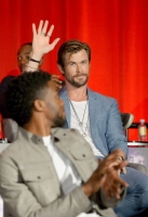 Cast of Marvel's Avengers: Infinity War attend the Global Press Conference OR (NAME OF TALENT) at the Avengers: Infinity War Press Junket in Los Angeles, CA April 22nd, 2018
