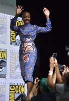 from Marvel Studios' 'XXfilmtitleXX' at the San Diego Comic-Con International 2017 Marvel Studios Panel in Hall H on July 22, 2017 in San Diego, California.