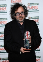 Tim Burton with the Empire Legend Award during the 2012 Jameson Empire Awards