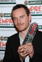Michael Fassbender with the Empire Hero Award during the 2012 Jameson Empire Awards