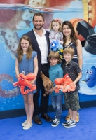 LONDON, UK - JULY 10: Actor Dominic West and family attend the UK Gala of Disney–Pixar's FINDING DORY on Sunday, July 10, 2016 in London, UK.