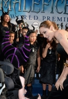 "attends the World Premiere of Disney's ""Maleficent"", starring Angelina Jolie, at the El Capitan Theatre on May 28, 2014 in Hollywood, California."