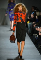 A model walks the runway at the Marc By Marc Jacobs Fall 2013 fashion show during Mercedes-Benz Fashion Week at The Theatre at Lincoln Center on February 11, 2013 in New York City.
