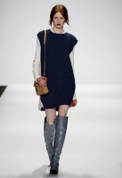 A model walks the runway at Rebecca Minkoff fashion show during Mercedes-Benz Fashion Week Fall 2014 at The Theatre at Lincoln Center on February 7, 2014 in New York City.
