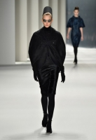 A model walks the runway at the Carolina Herrera fashion show during Mercedes-Benz Fashion Week Fall 2014 at The Theatre at Lincoln Center on February 10, 2014 in New York City.