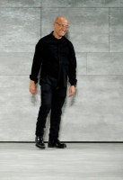 A model walks the runway at the Angel Sanchez fashion show during Mercedes-Benz Fashion Week Fall 2014 at The Pavilion at Lincoln Center on February 10, 2014 in New York City.
