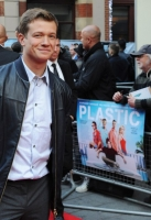 "attends the World Premiere of Paramount Pictures ""Plastic"" at the Odeon West End, Leicester Square on April 29, 2014 in London, England."