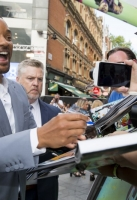 Will Smith attends the European Premiere of 'Suicide Squad' at London's Leicester Square. 3 August 2016