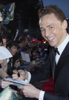 Actor Tom Hiddleston at the Global Premiere for thor the dark world