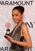 poses in the Paramount Hotel Winners' Room at the 68th Annual Tony Awards on June 8, 2014 in New York City.