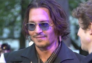 Johnny Depp at Dark Shadows european premiere