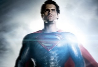 Man of steel superman character poster