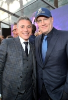 HOLLYWOOD, CA - APRIL 23: _____ (L) and President of Marvel Studios and Producer Kevin Feige attend the Los Angeles Global Premiere for Marvel Studios' Avengers: Infinity War on April 23, 2018 in Hollywood, California.  (Photo by Charley Gallay/Getty Images for Disney)
