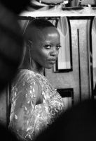 LONDON, UK – FEBRUARY 08: Florence Kasumba attends the European Premiere of Marvel Studios' BLACK PANTHER at the Eventim Apollo in London on 8thFebruary 2018