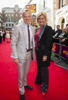 Graham Norton and guest arrive at the Charlie and The Chocolate Factory Opening night, at the Theatre Royal, Drury Lane - London
