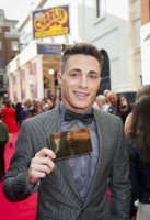 Colton Haynes arrives at the Charlie and The Chocolate Factory Opening night, at the Theatre Royal, Drury Lane - London