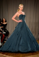 A model walks the runway at the Zac Posen fashion show during Mercedes-Benz Fashion Week Fall 2014 on February 10, 2014 in New York City.