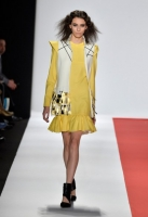 A model walks the runway at The Art Institute Of New York City fashion show during Mercedes-Benz Fashion Week Fall 2014 at The Theatre at Lincoln Center on February 11, 2014 in New York City.