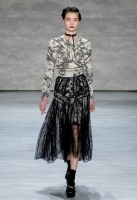 A model walks the runway at Zimmermann fashion show during Mercedes-Benz Fashion Week Fall 2014 at The Pavilion at Lincoln Center on February 7, 2014 in New York City.