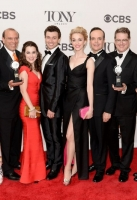 poses in the press room during the 68th Annual Tony Awards on June 8, 2014 in New York City.